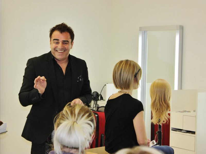 gael betts instructing stylists